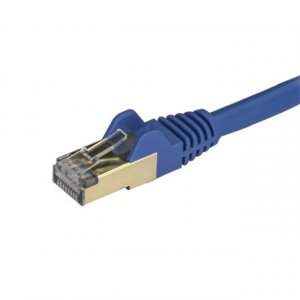 Startech 6aspat50cmbl 0.5m Blue Cat6a Ethernet Cable - Stp