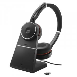 Jabra Evolve 75 UC Stereo Headset with Charging Stand