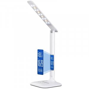Simplecom EL808 LED Dimmable Touch Control Multifunction LED Desk Lamp 4W with Digital Clock