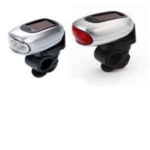 Dynamo Solar LED Bicycle Lamps (Front and Rear)