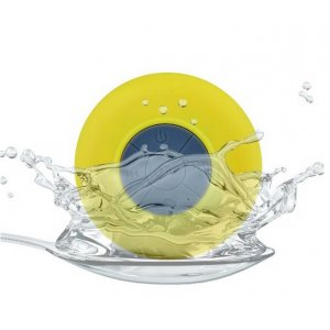 Mini Waterproof Wireless Bluetooth Speaker (Yellow)