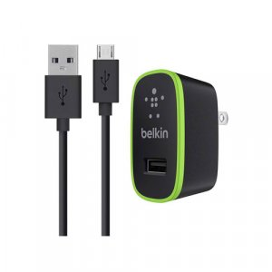 Belkin 2.1A Wall charger with Micro USB Charge/Sync Cable - F8M667AU04-BLK