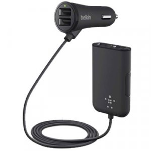 Belkin F8m935bt06-blk 4 Port Road Rockstar Car Charger With Back Seat Charging