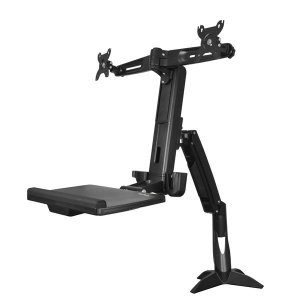 Startech ARMSTSCP2 Sit Stand Dual Monitor Arm - Adjustable