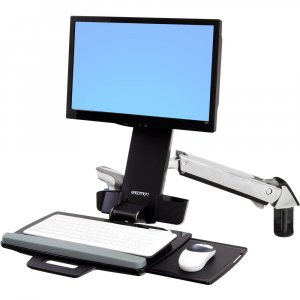Ergotron 45-266-026 Sv Sit Stand Combo Arm No Worksurface