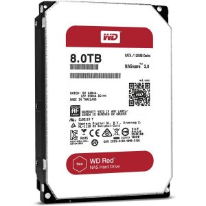 "WD Red WD80EFAX 3.5"" 8TB 256MB 5400RPM NAS HDD Drive"